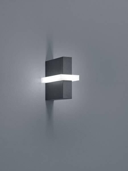 Wand-Aussenleuchte Helestra Leuchten Metall graphit ca. 16 cm x 8 cm x 17 cm