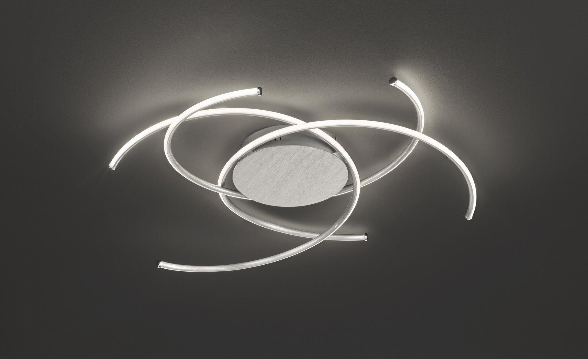 Deckenleuchte Juls Wofi Leuchten Metall silber 71 x 16 x 71 cm