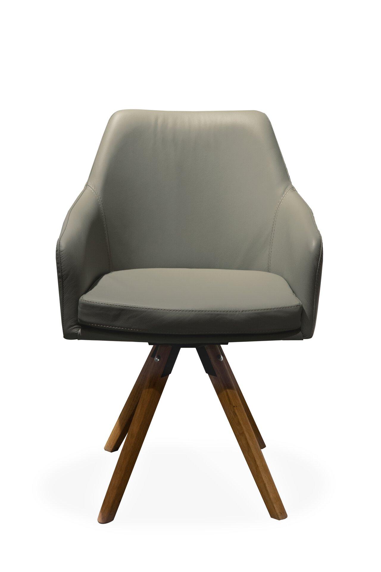 Stuhl 4A Dinett Leder grau 48 x 83 x 61 cm