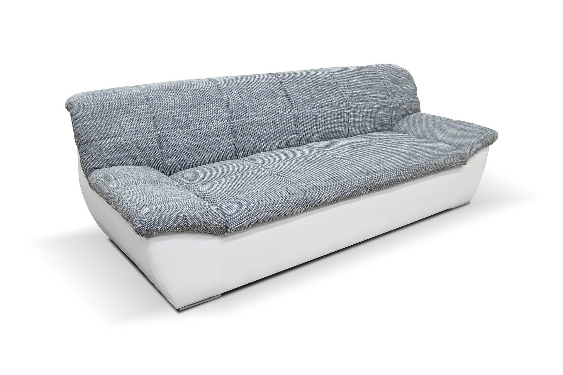 Sofa 2-Sitzer Splash Domo Collection Textil weiß 96 x 76 x 211 cm