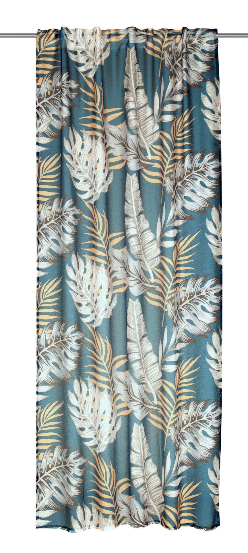 Schlaufenschal Monstera Albani Textil Blau 1 x 2 cm