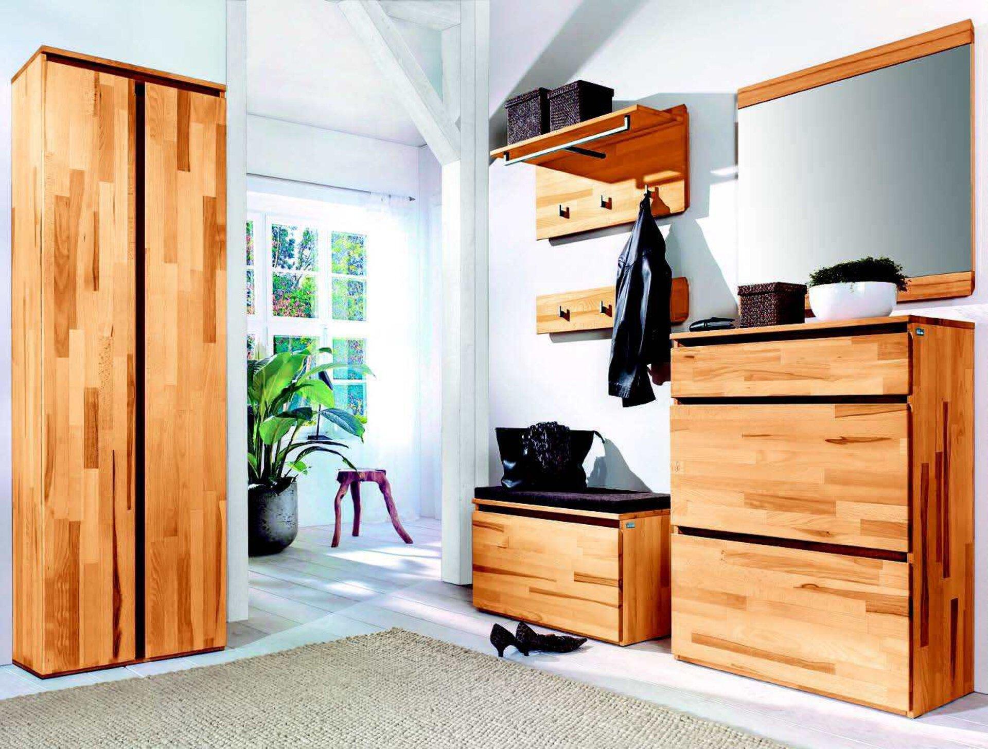 Garderobenschrank POUR VALMONDO Holzwerkstoff braun 39 x 194 x 60 cm