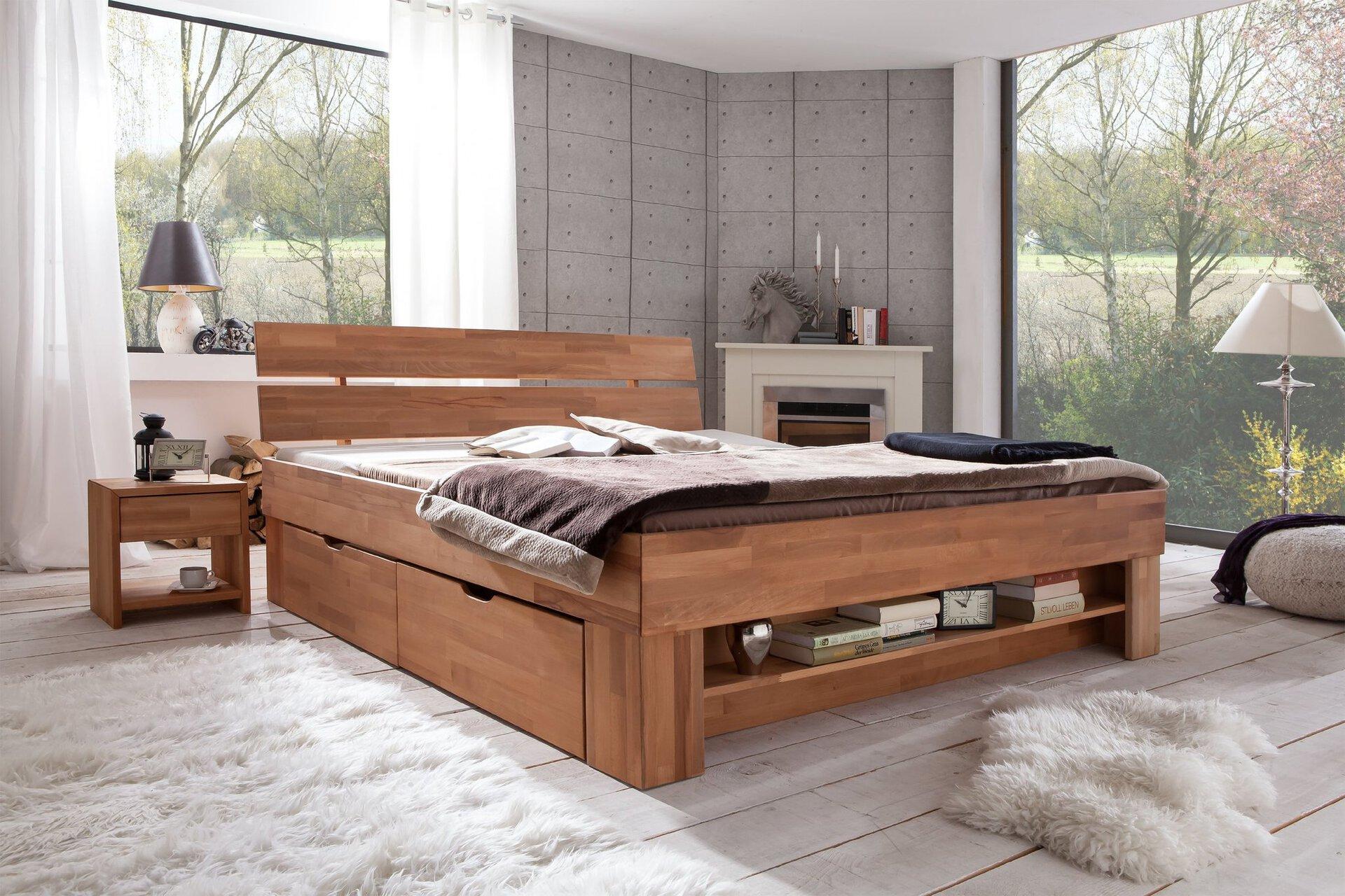 Bett SOFIE SO-180 Dreamoro Holz braun 215 x 88 x 185 cm
