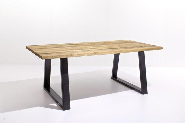 Esstisch MCA furniture Holz Metall schwarz gepulvert