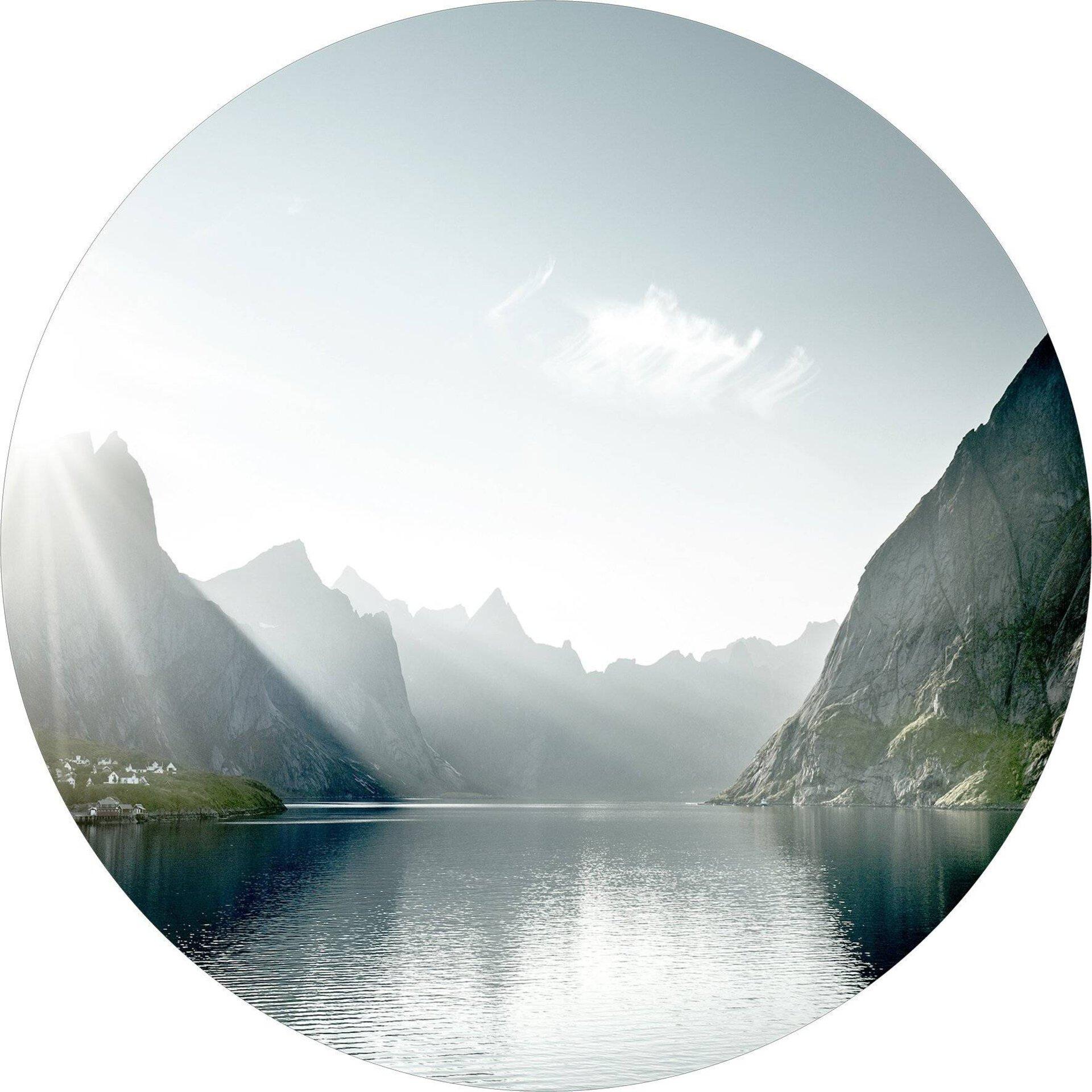 Bild Bergsee I Pro-Art Glas mehrfarbig 50 x 50 x 1 cm