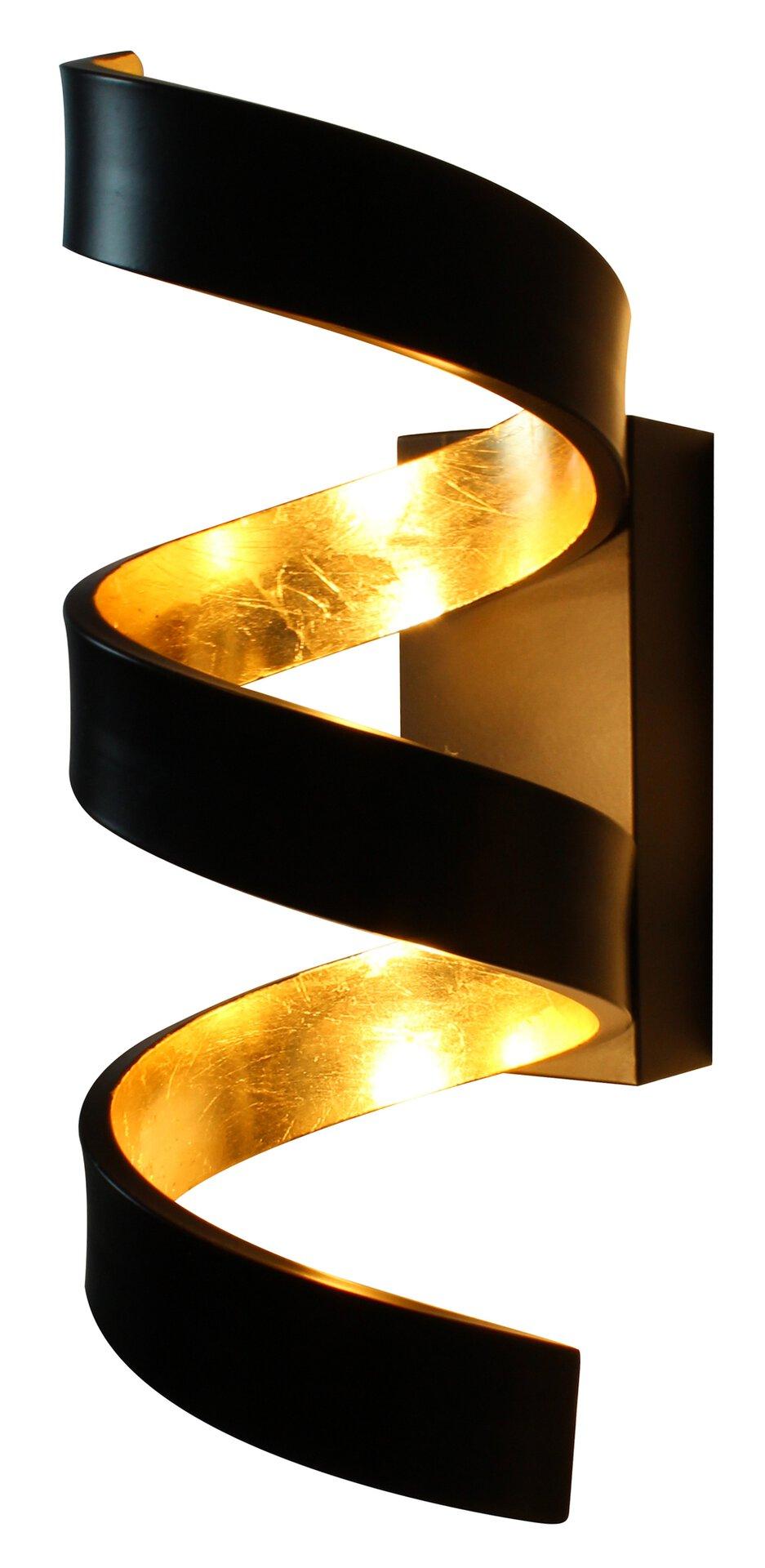 Wandleuchte Helix LED-Helix-AP3 Eco-Light Metall schwarz 10 x 26 x 13 cm
