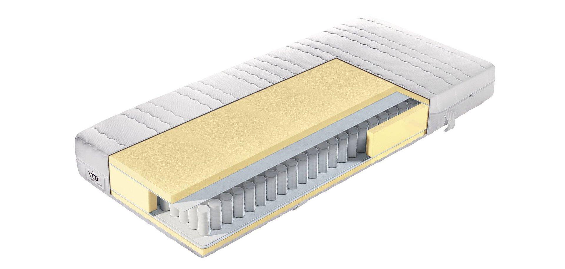 Taschenfederkernmatratze Sensio Basic Vito Textil weiß 160 x 18 x 200 cm