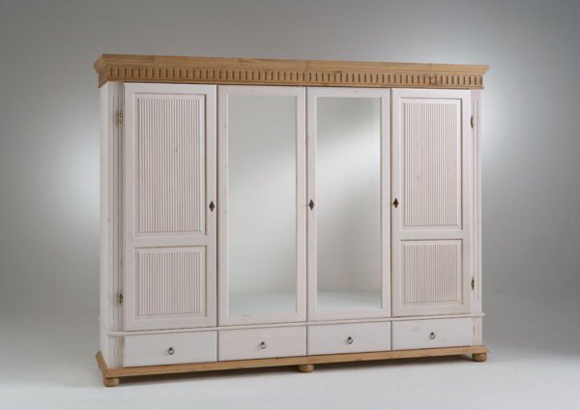 Kleiderschrank HELSINKI Dreamoro Holz weiß 62 x 218 x 250 cm
