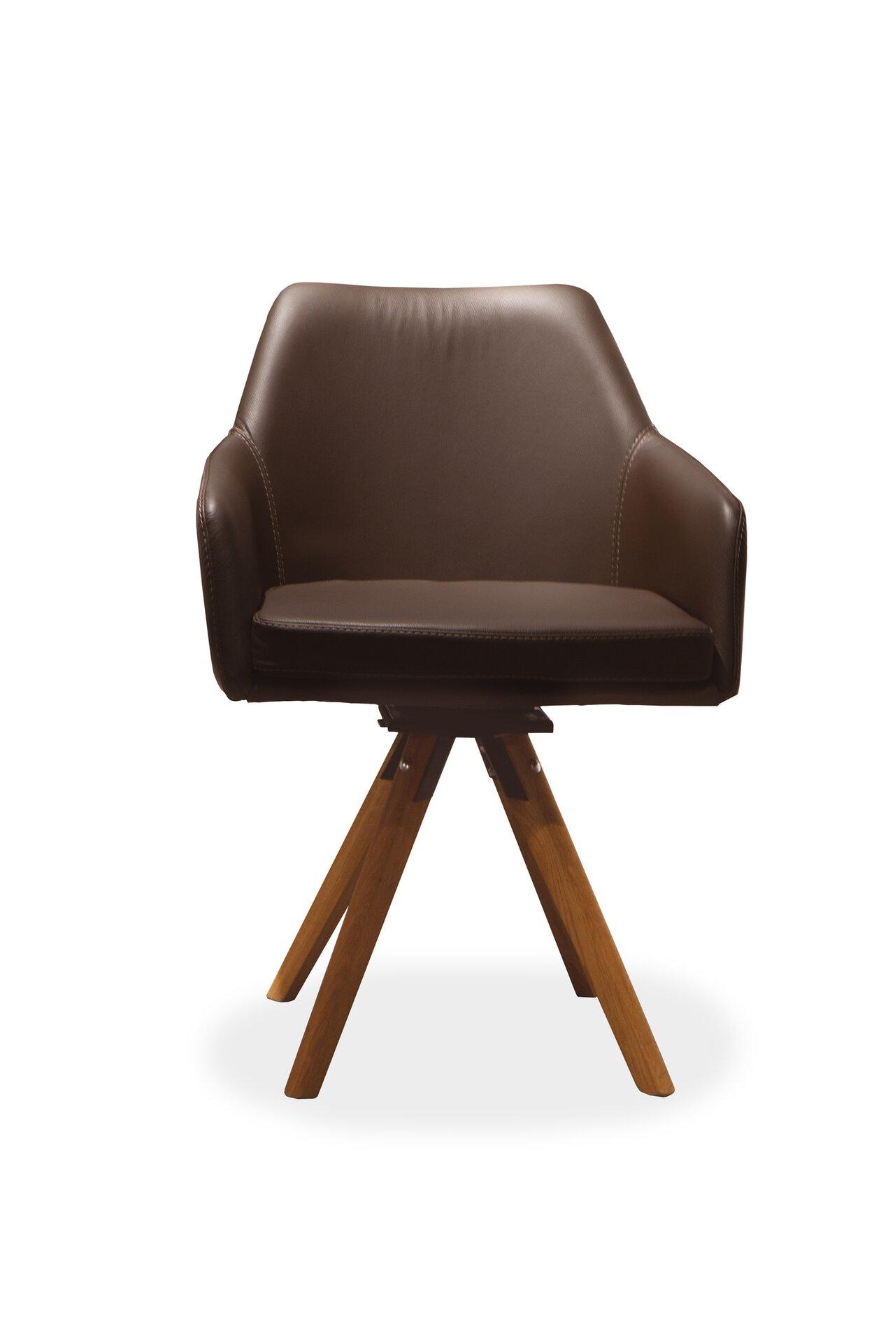 Stuhl 4A Dinett Leder braun 48 x 83 x 61 cm