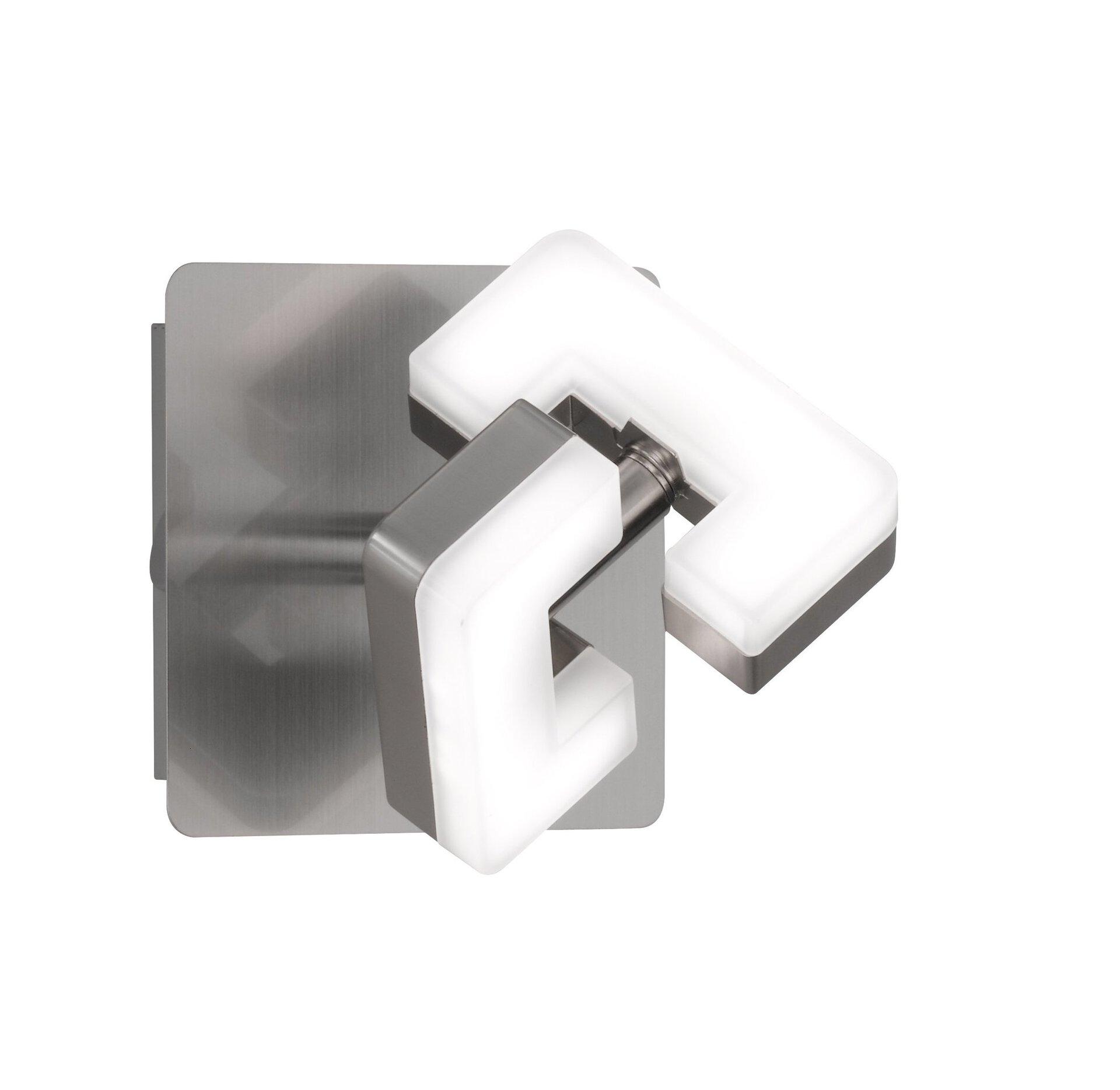 Aufbauspot Zara Wofi Leuchten Metall silber 10 x 12 x 10 cm
