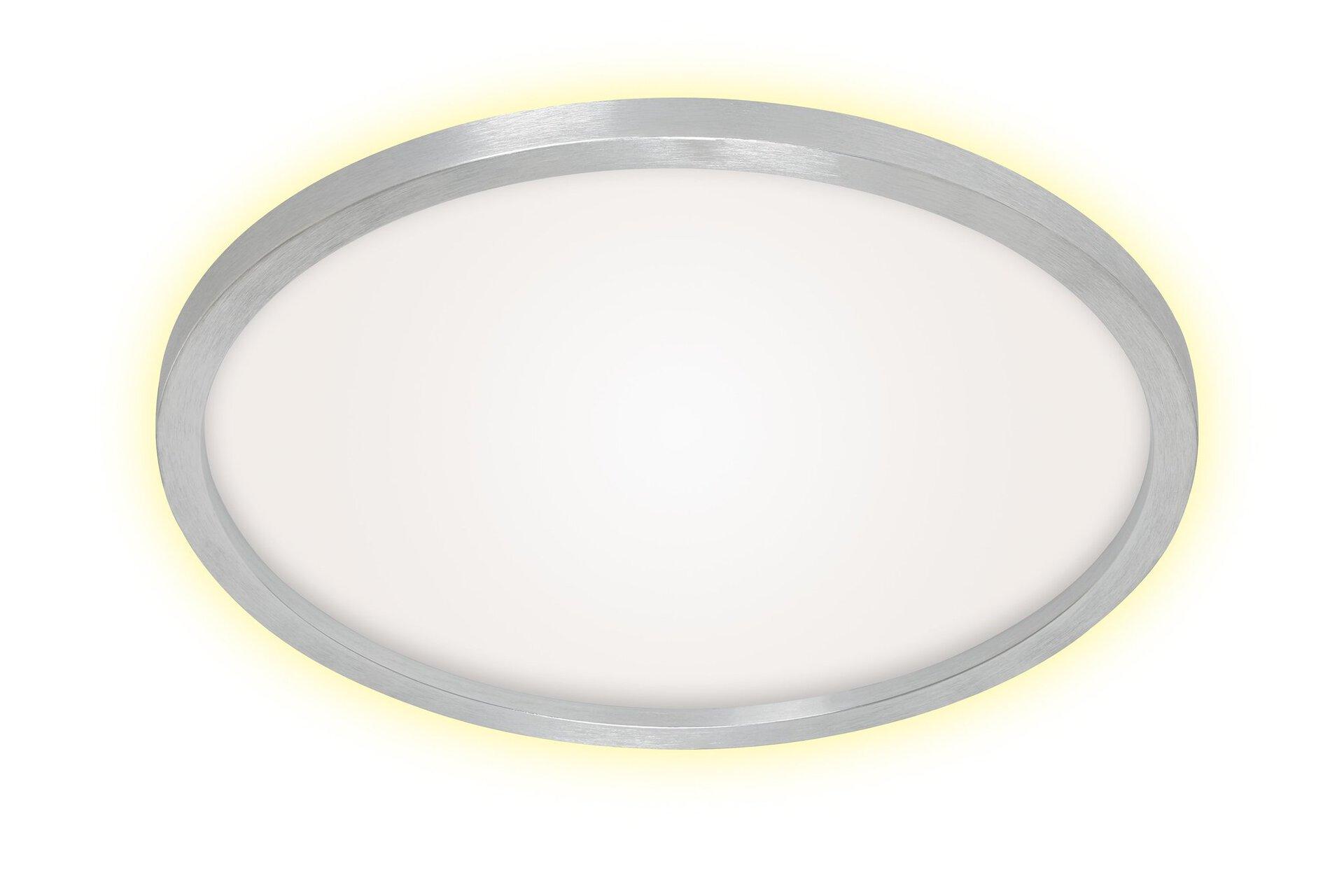 Deckenleuchte CADRE Briloner Metall silber 43 x 3 x 43 cm