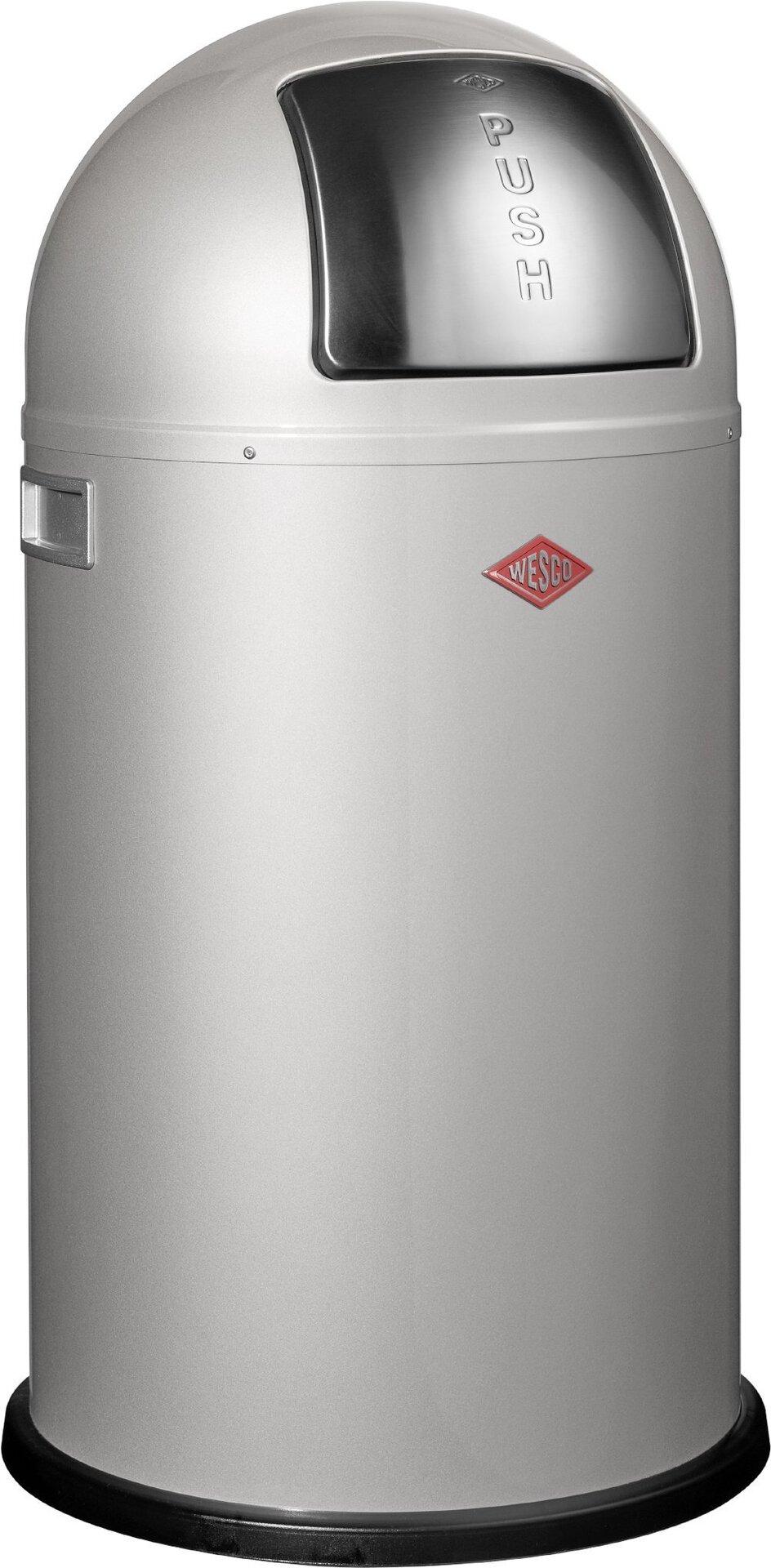 Müllbehälter Pushboy Wesco Metall silber