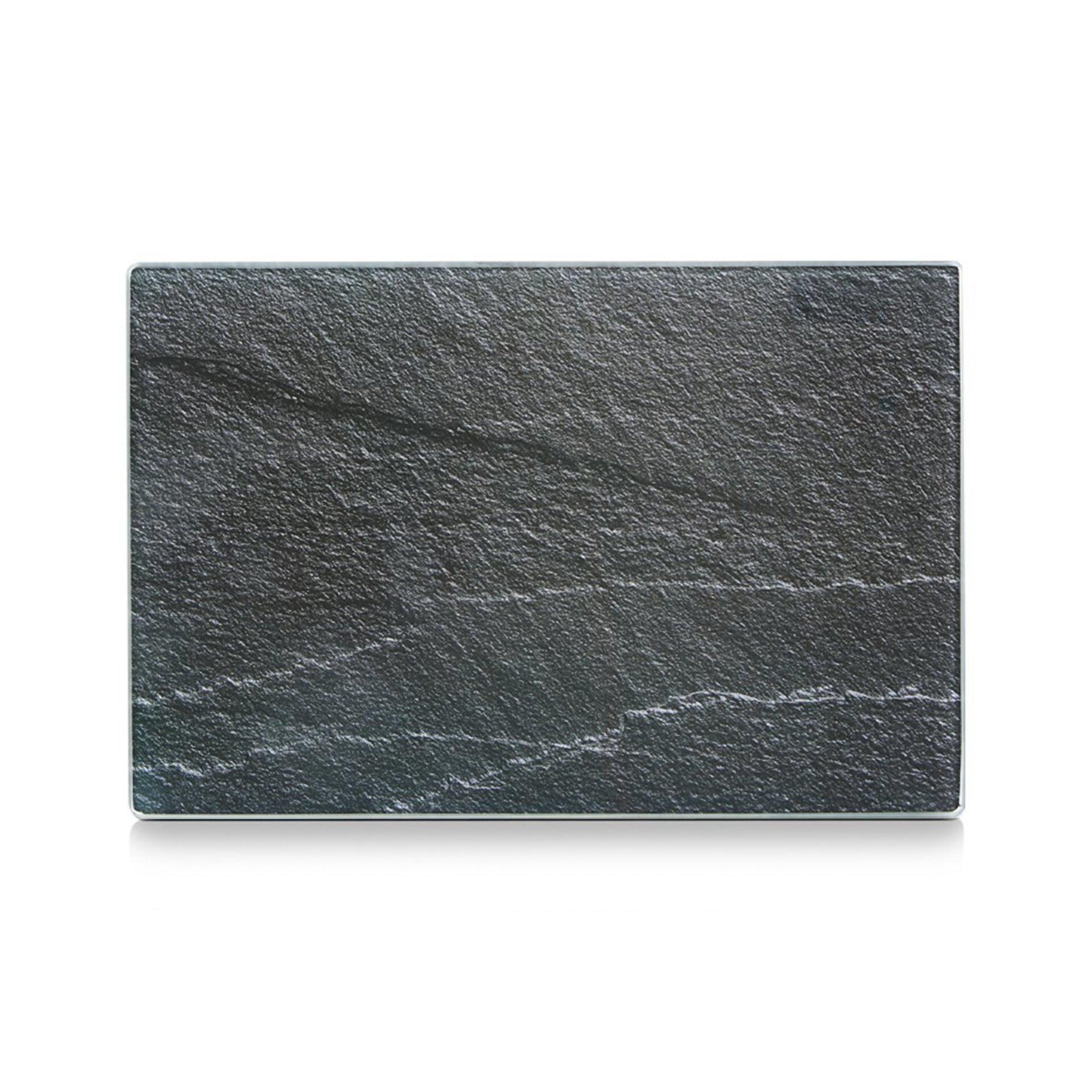 Schneidebrett Zeller Present Glas grau 20 x 30 cm