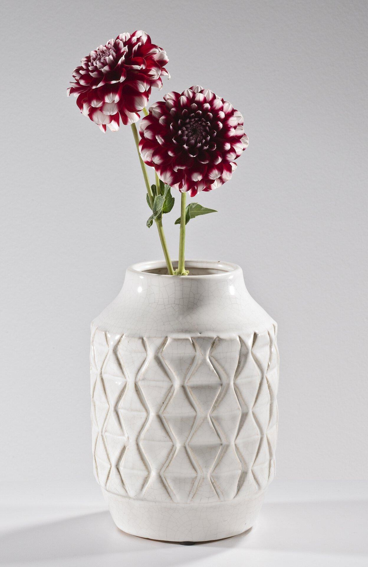 Vase 185110 Casa Nova Keramik weiß 21 x