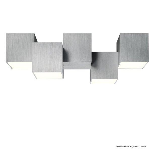 Deckenleuchte Grossmann  Metall alu ca. 20 cm x 15 cm x 50 cm