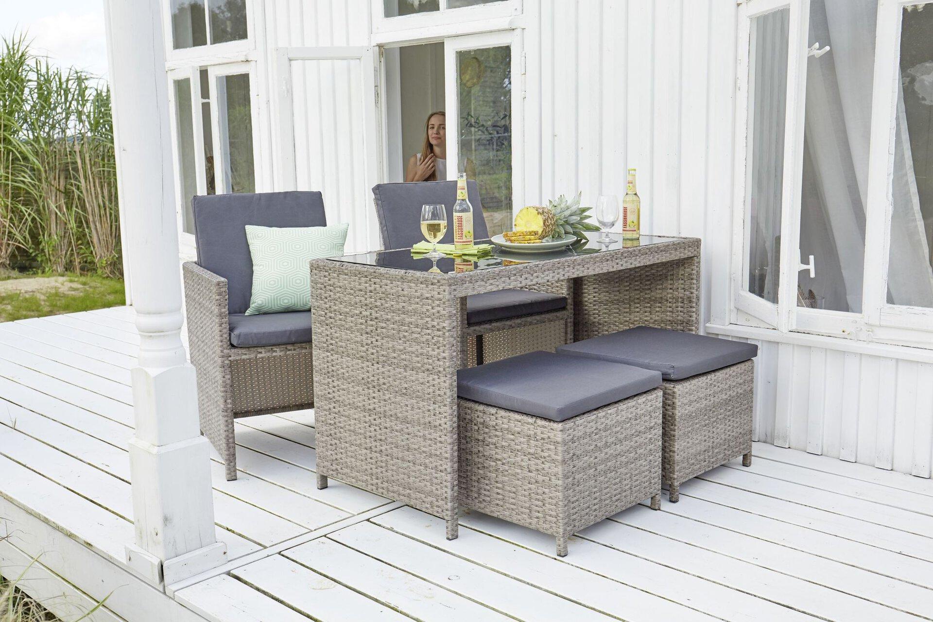 Balkon-Set BELA Outdoor Textil 60 x 72 x 120 cm