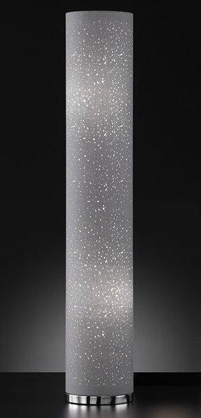 Stehleuchte Fischer-Honsel  Metall chrom ca. 19 cm x 110 cm x 19 cm