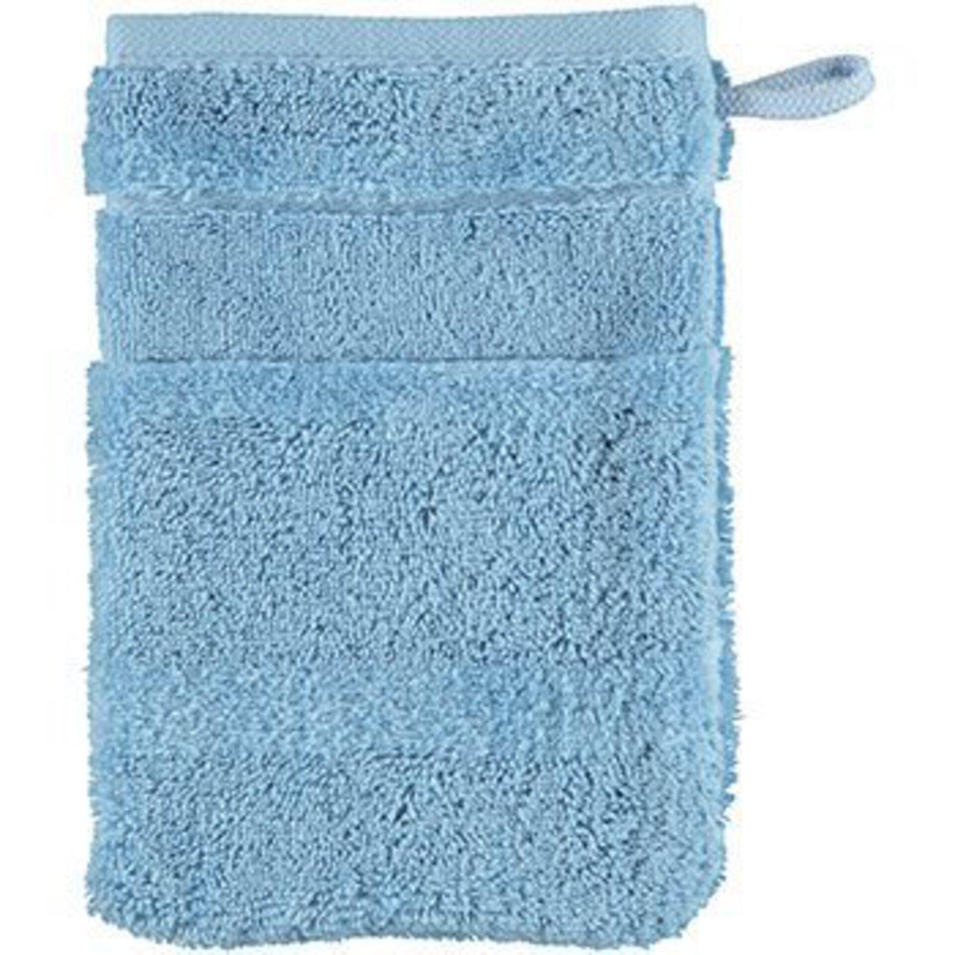 Waschhandschuh Cawö Textil Blau 16 x 22 cm