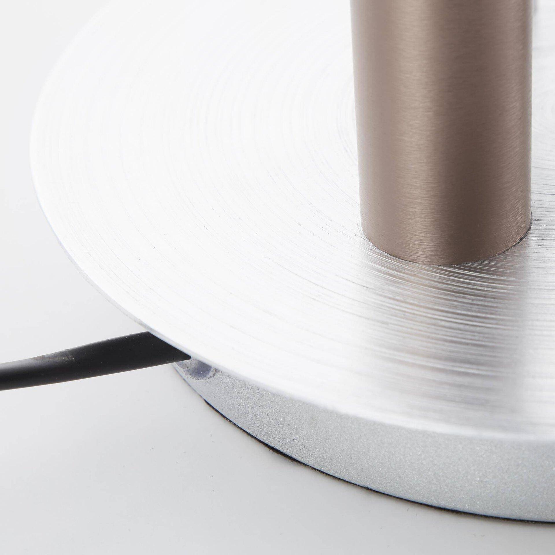 Tischleuchte CEMBALO Brilliant Metall silber 18 x 47 x 18 cm