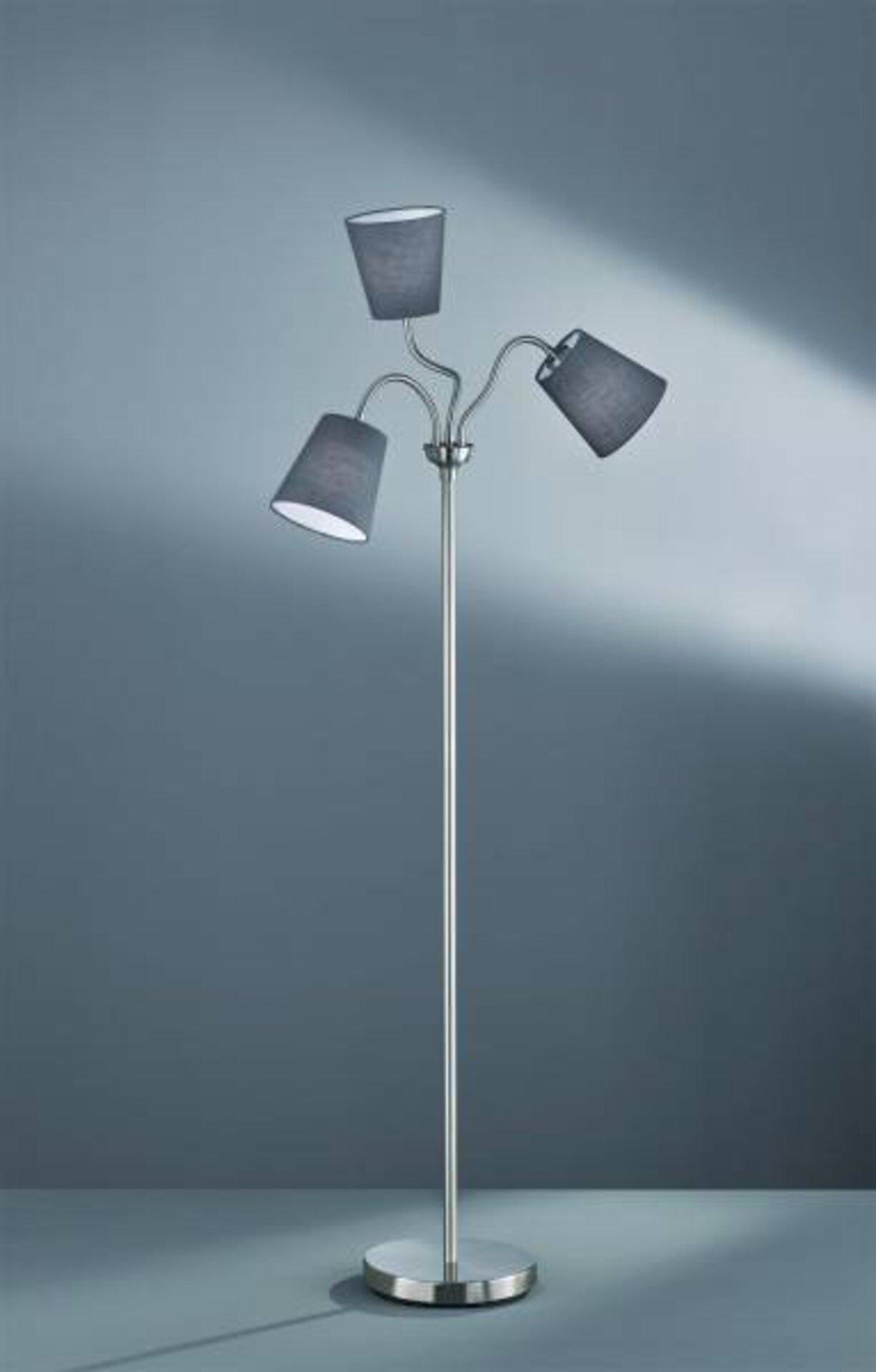 Stehleuchte Windu Reality Leuchten Metall silber 140 x 25 cm