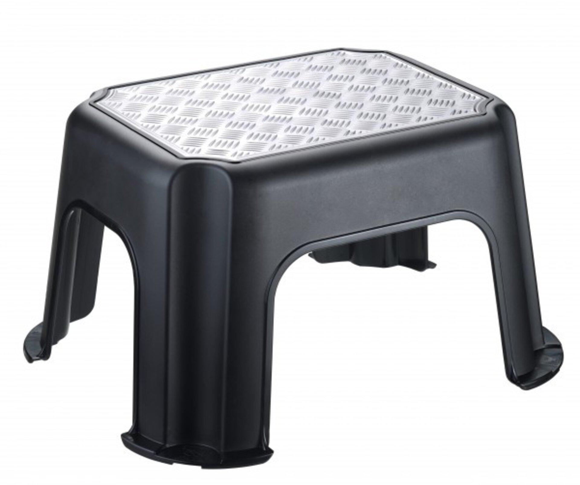 Hocker PASO Rotho Kunststoff schwarz 35 x 23 x 43 cm