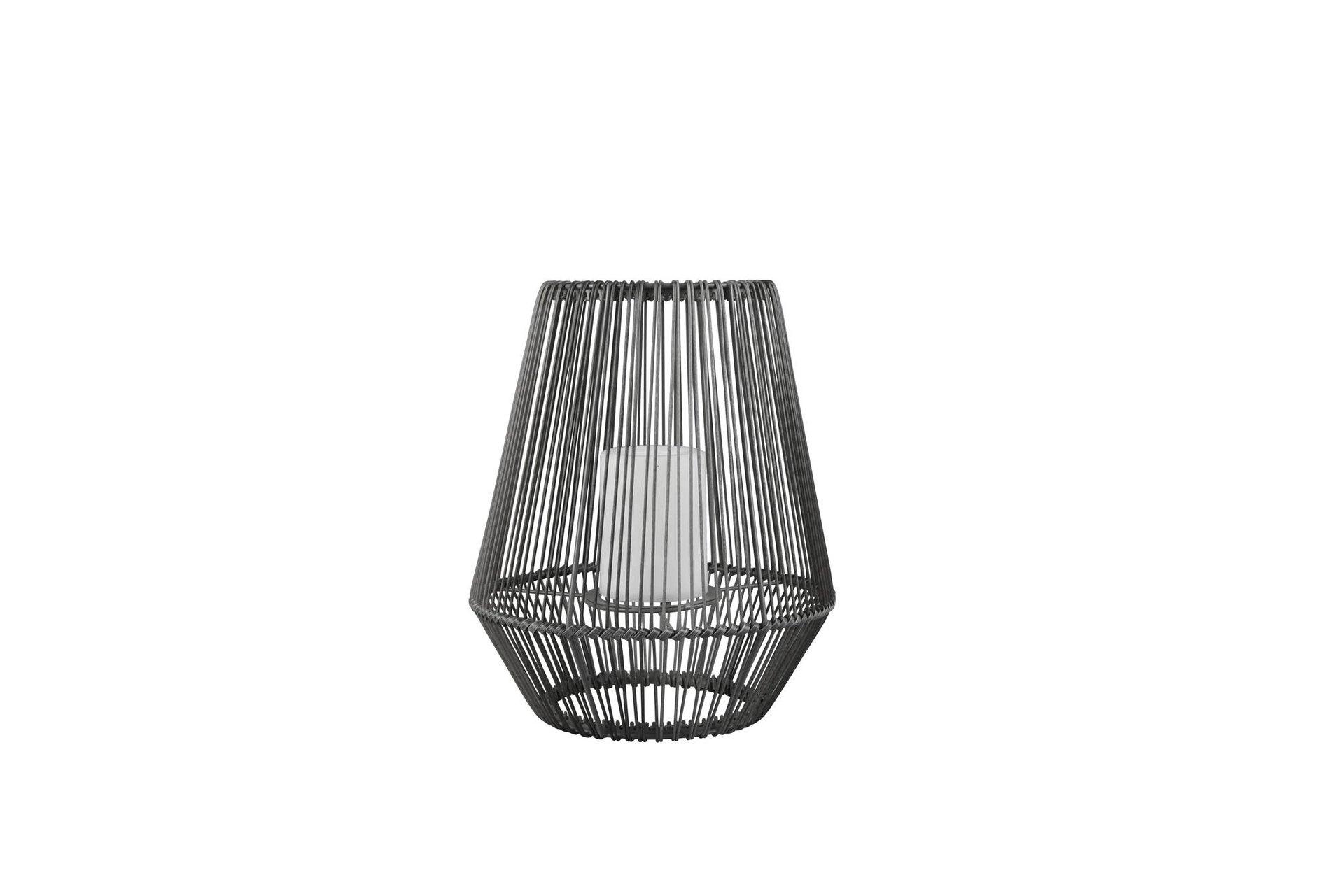 Solarleuchte MINEROS Reality Leuchten Metall grau 26 x 31 x 26 cm