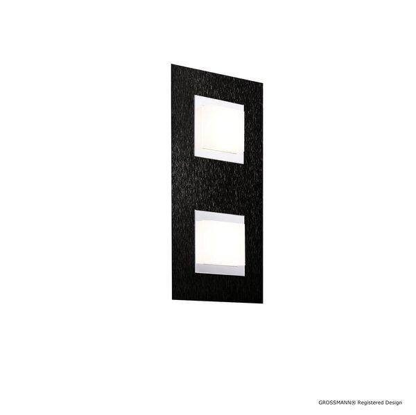 Wandleuchte Grossmann  Metall schwarz ca. 15 cm x 5 cm x 30 cm