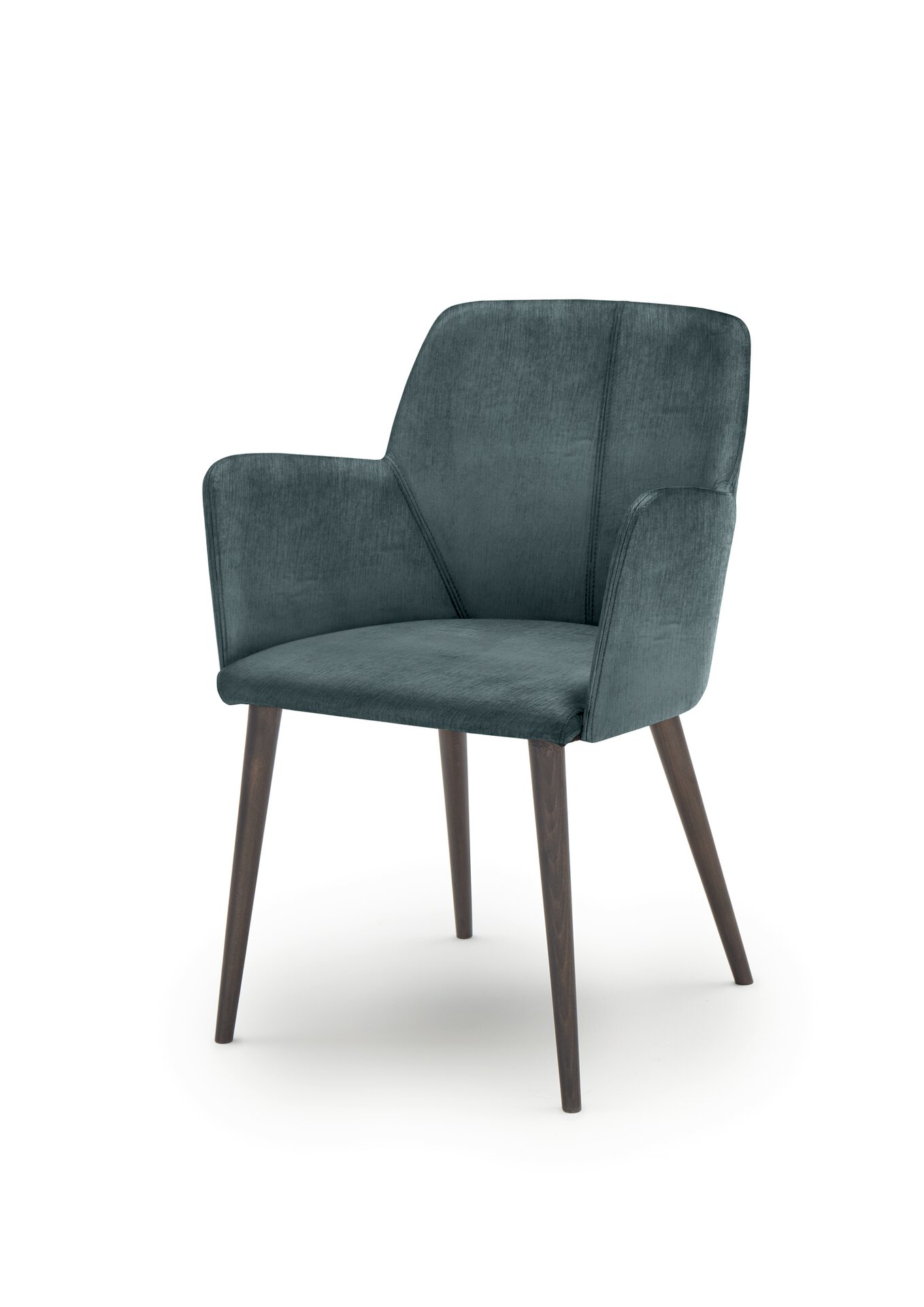 4-Fuß-Stuhl WK7005 Stuart WK Wohnen Edition Textil Blau 57 x 83 x 59 cm
