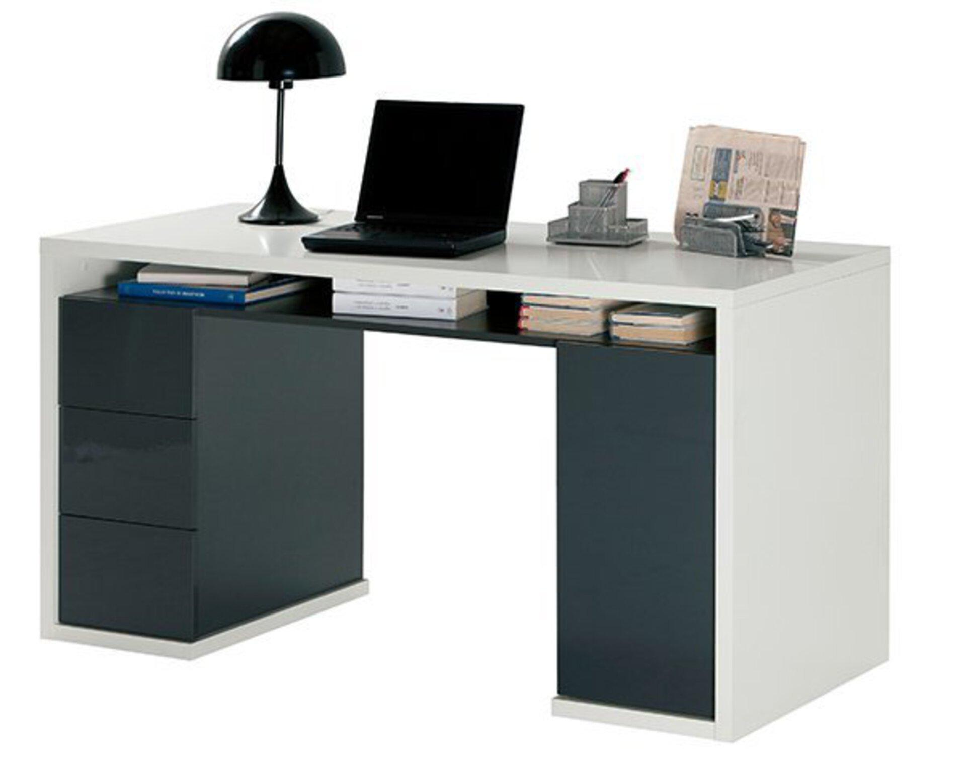 Schreibtisch MONETA inbuy Holzwerkstoff weiß