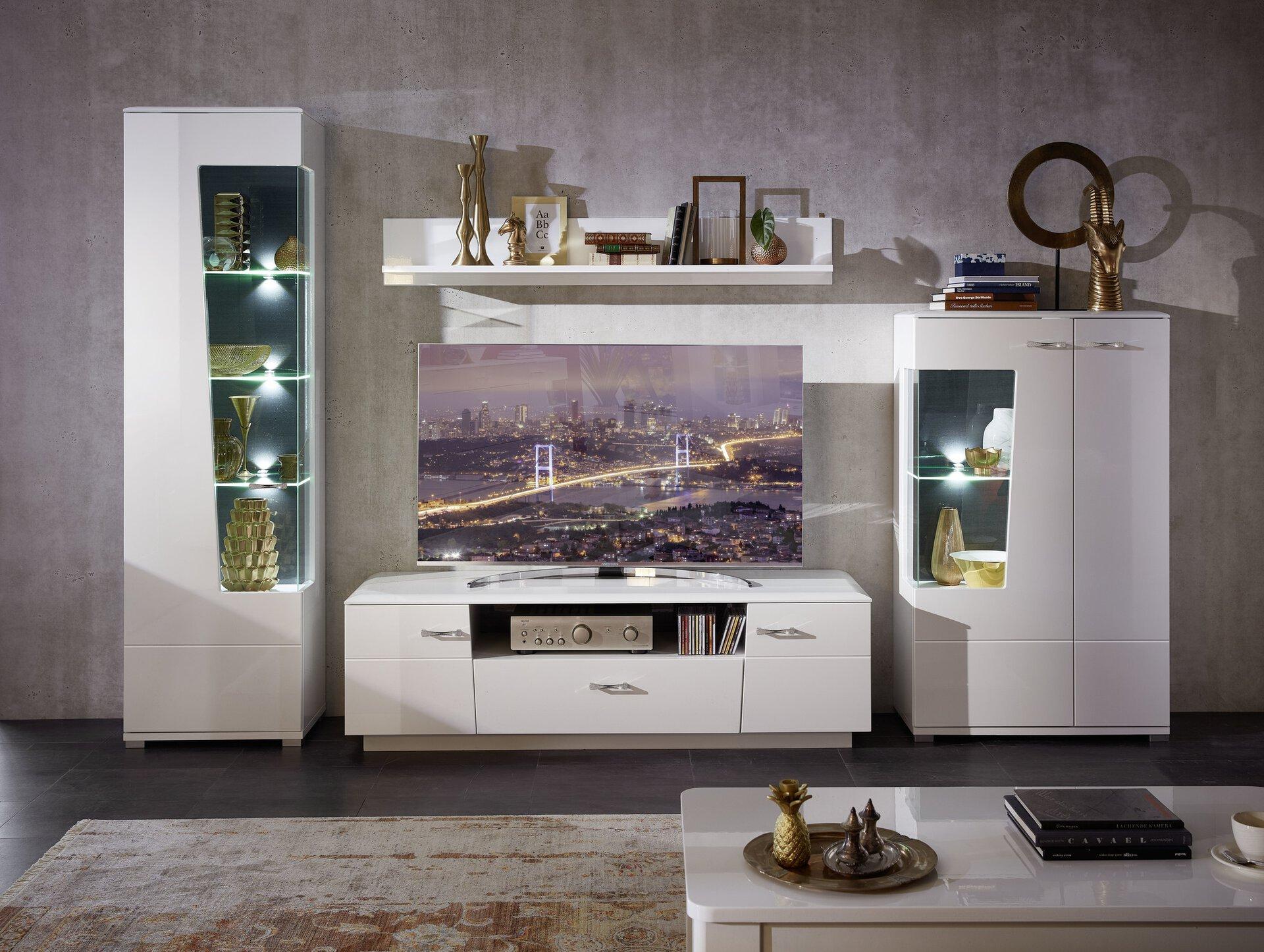 Wohnwand ALIBABA CELECT Holzwerkstoff mehrfarbig 52 x 199 x 315 cm