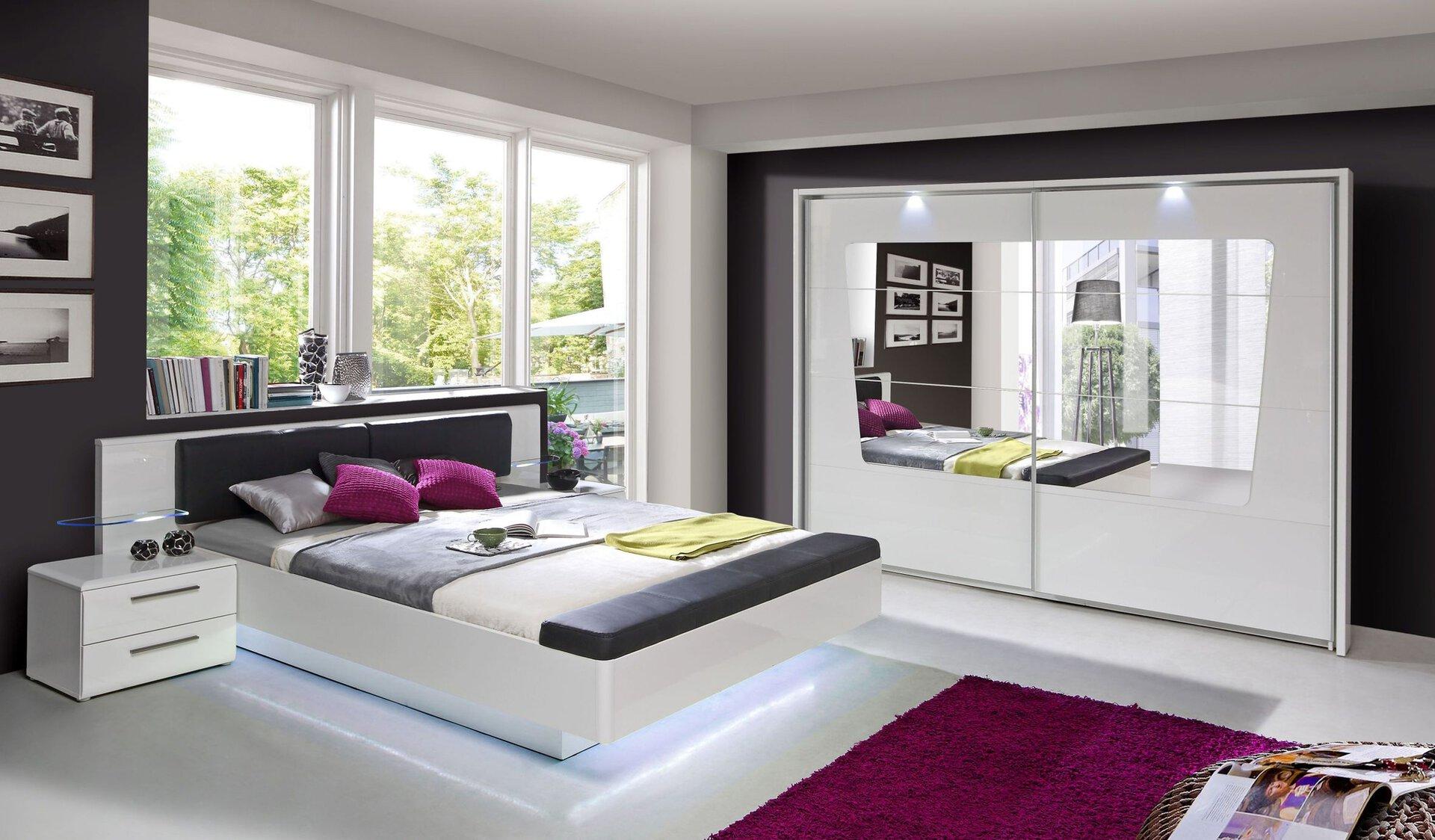 Nachttisch Liv'in Madrano LIV'IN Holzwerkstoff weiß 42 x 43 x 61 cm
