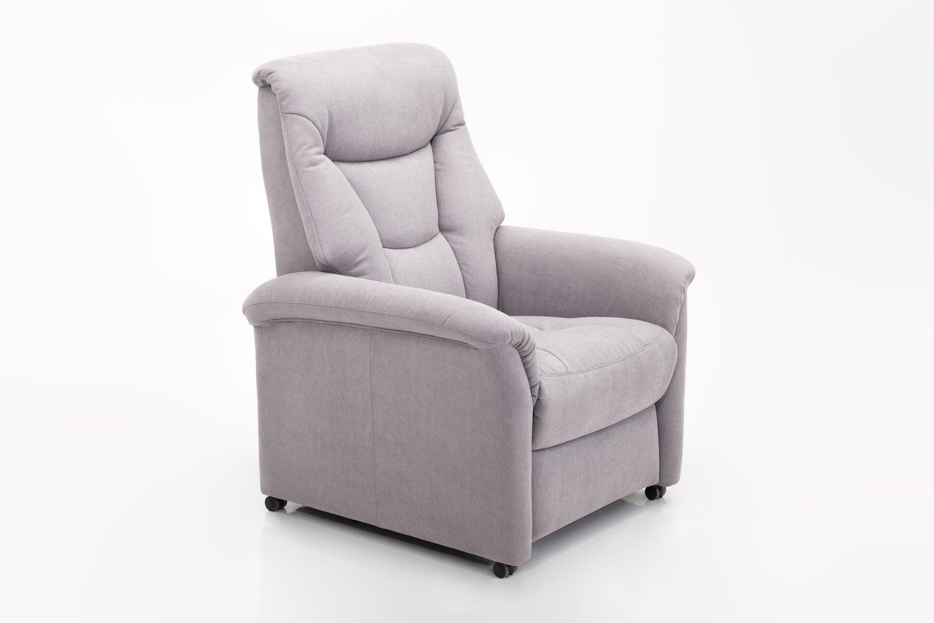 Einzelsessel KAYNE Vito Textil grau 84 x 109 x 84 cm
