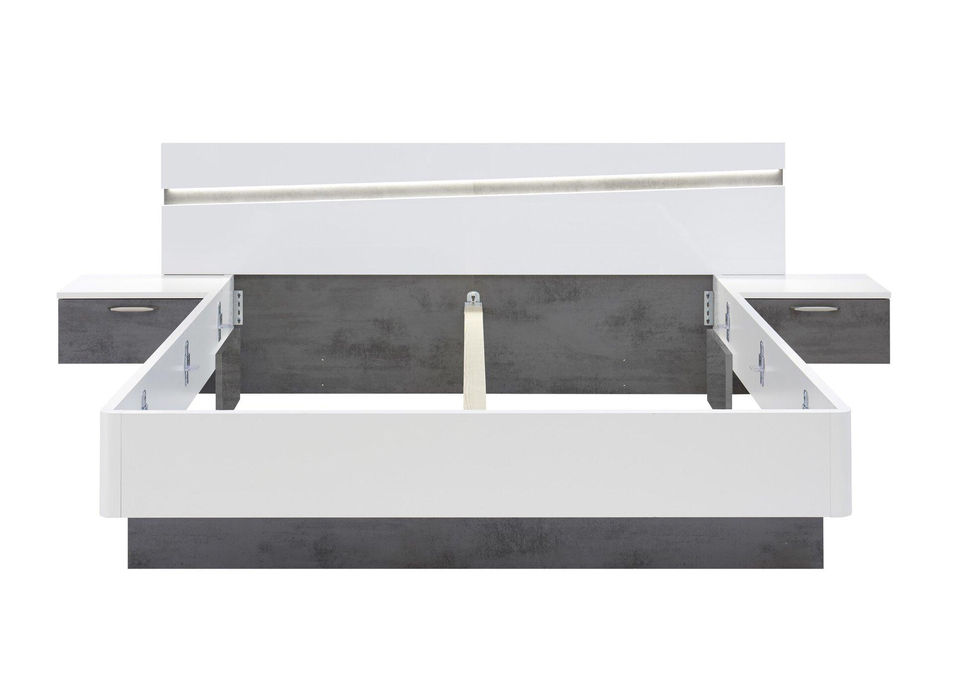 Schlafzimmer SHARP Vito Holzwerkstoff weiß 60 x 225 x 270 cm