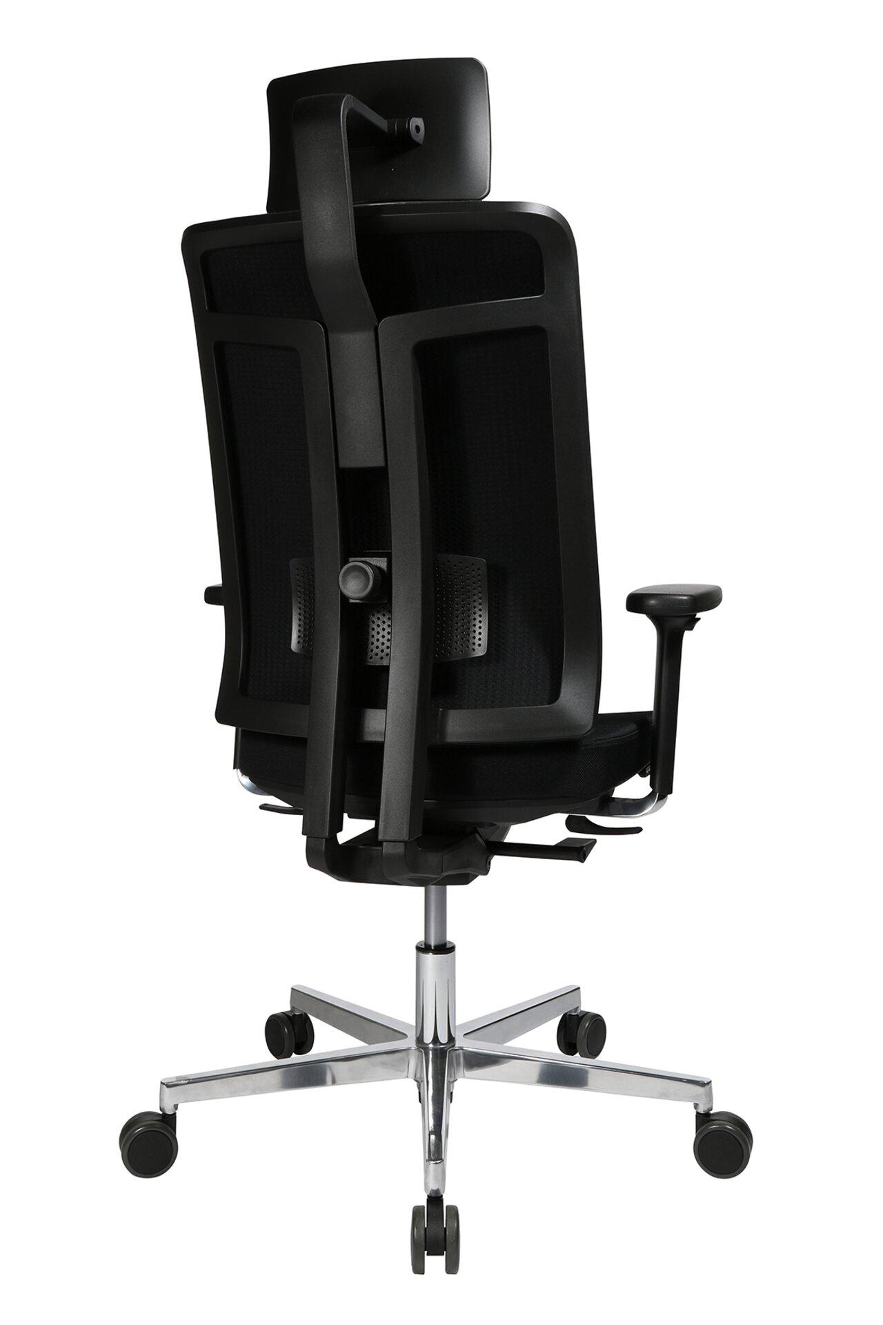 Büro-Drehstuhl M4 MONDO Textil schwarz 49 x 137 x 56 cm