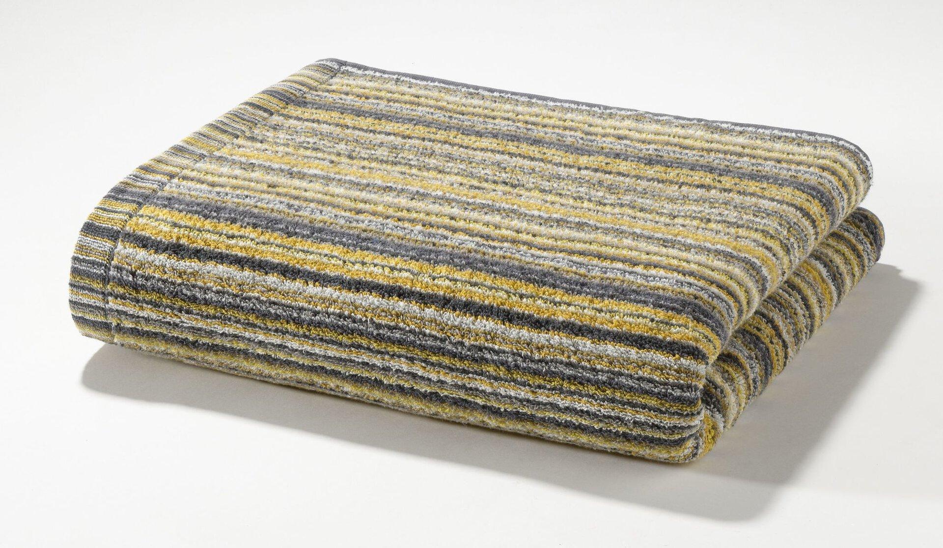 Duschtuch Autumnstripes Casa Nova Textil gelb