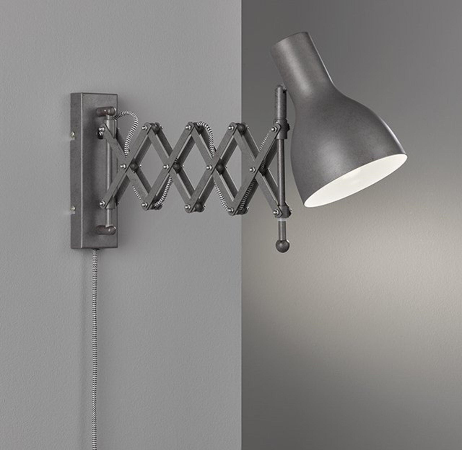 Wandleuchte Pull Fischer-Honsel Metall braun 14 x 19 x 60 cm