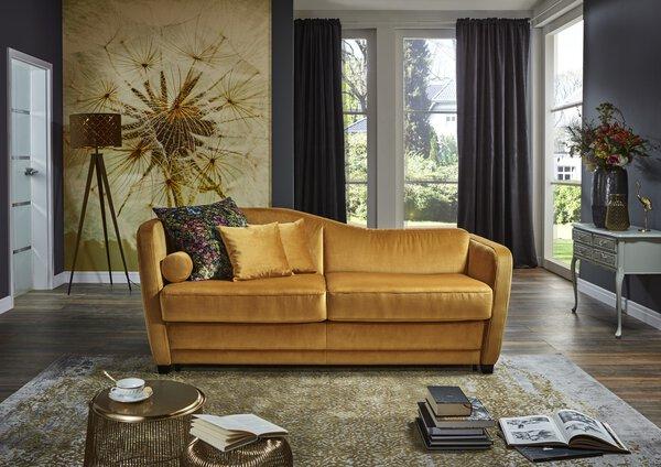 Sofa 2-Sitzer Nehl  Textil Stoff curry ca. 98 cm x 84 cm x 192 cm