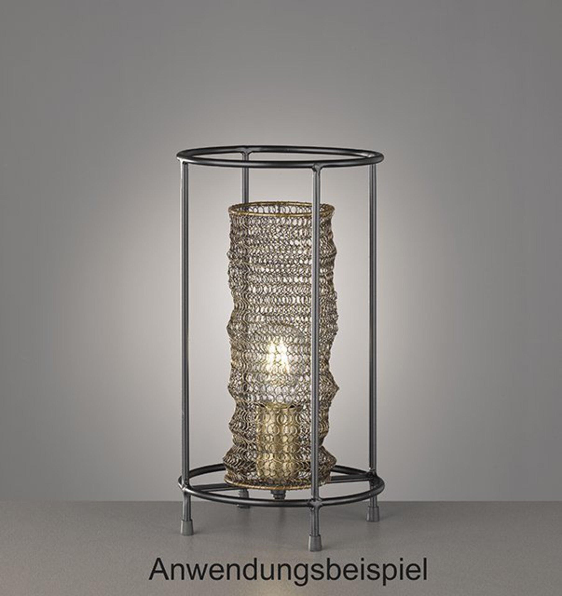 Tischleuchte Ano Fischer-Honsel Metall braun 20 x 36 x 20 cm