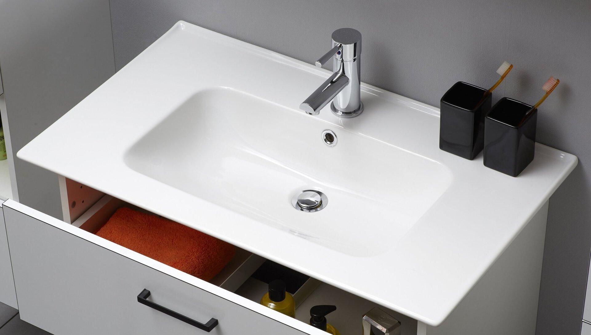 Waschbecken Burgas PELIPAL Keramik weiß