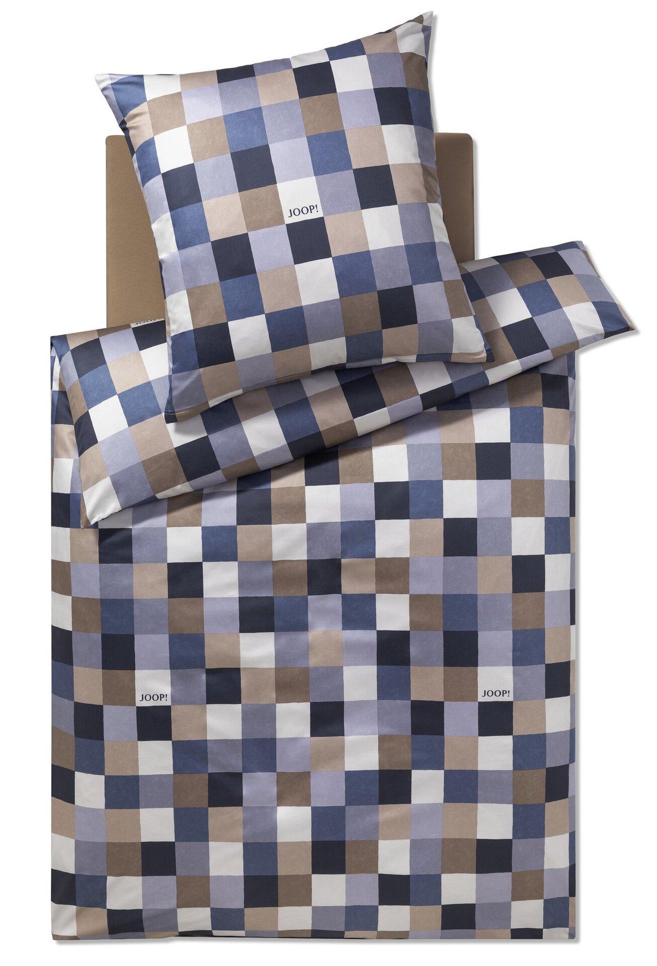Satin-Bettwäsche Mosaic Joop! Textil Blau 135 x 200 cm