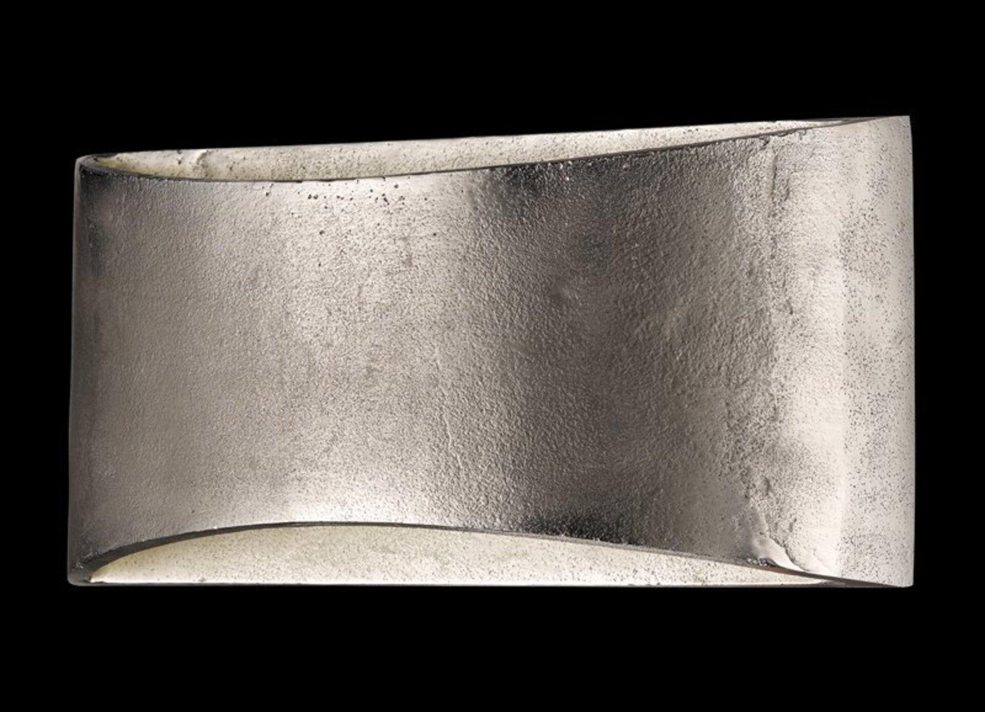 Wandleuchte Arles Fischer-Honsel Metall silber 30 x 14 x 9 cm