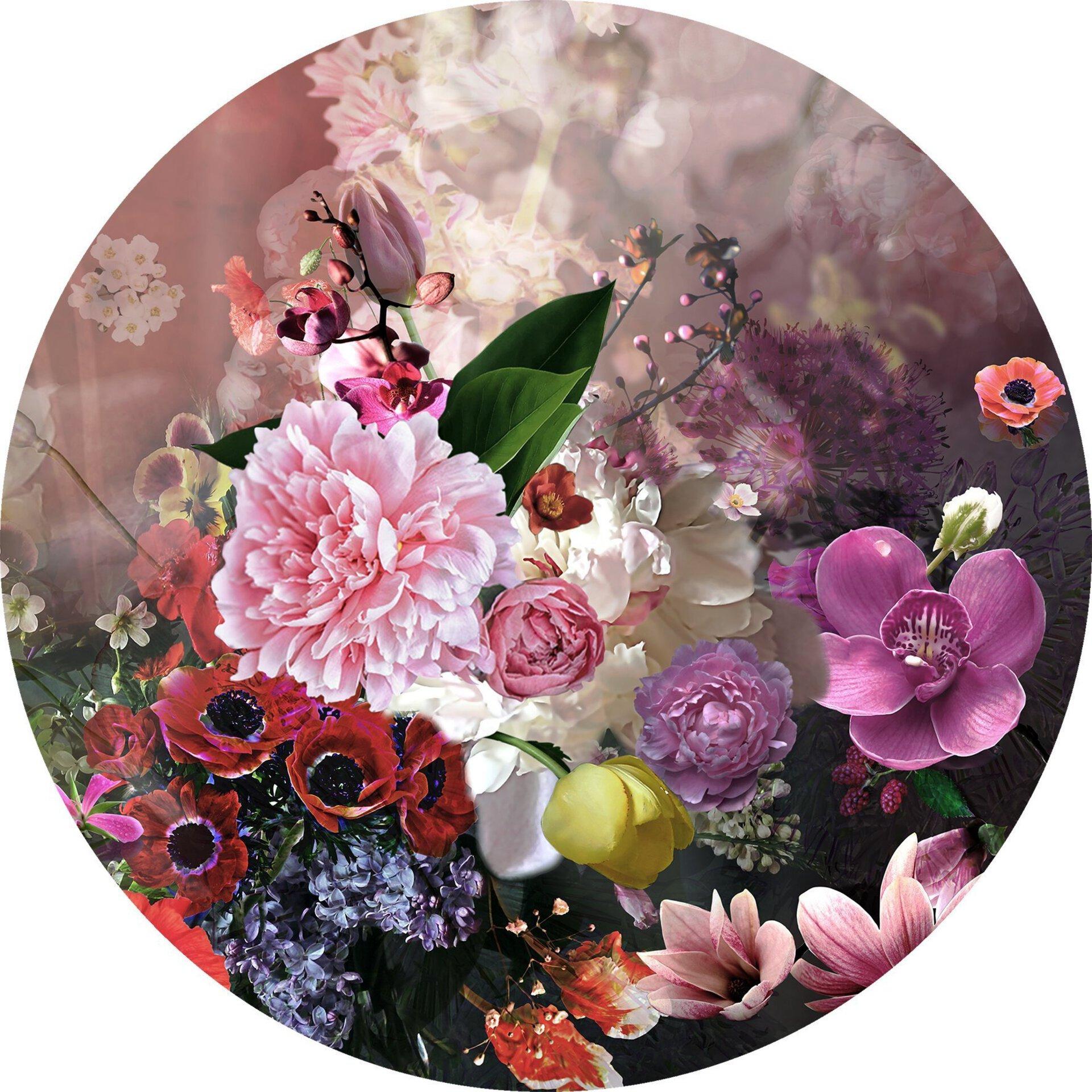 Bild Colourful Baroque Flowermix ll Pro-Art Glas 20 x 20 x 1 cm