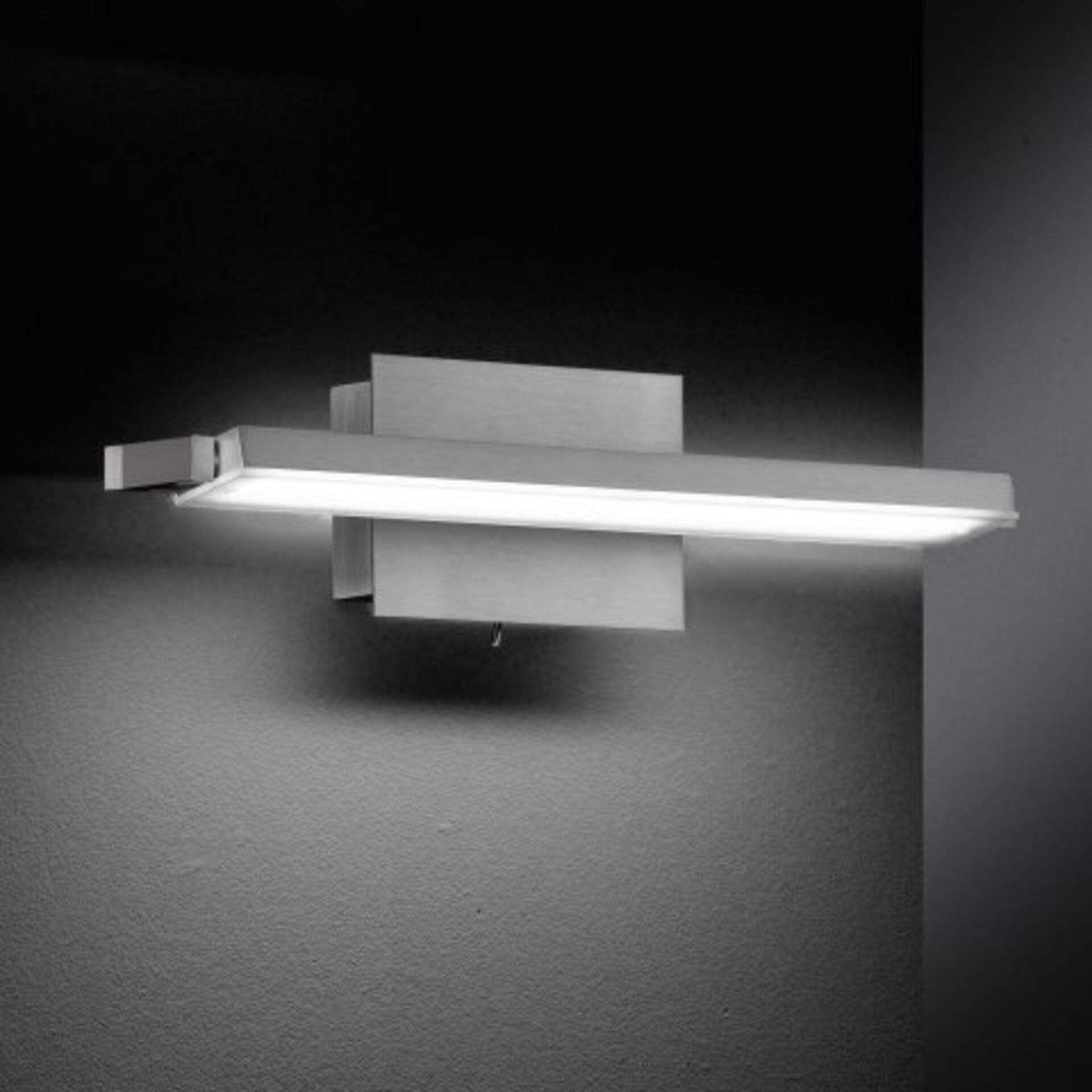 Wandleuchte Pare Fischer-Honsel Metall silber 37 x 9 x