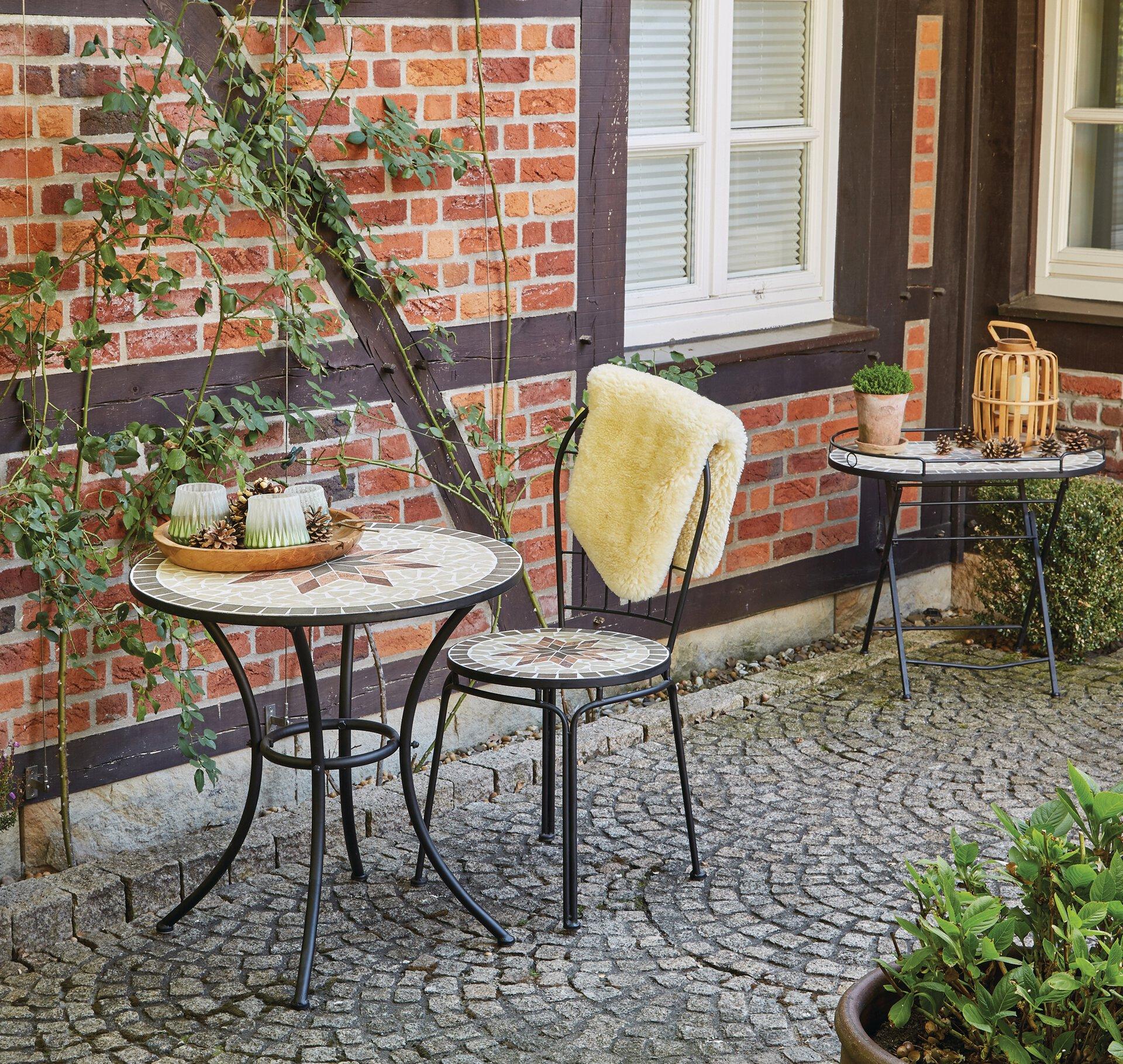 Gartentisch Stella H. Gautzsch Metall grau 70 x 71 x 70 cm