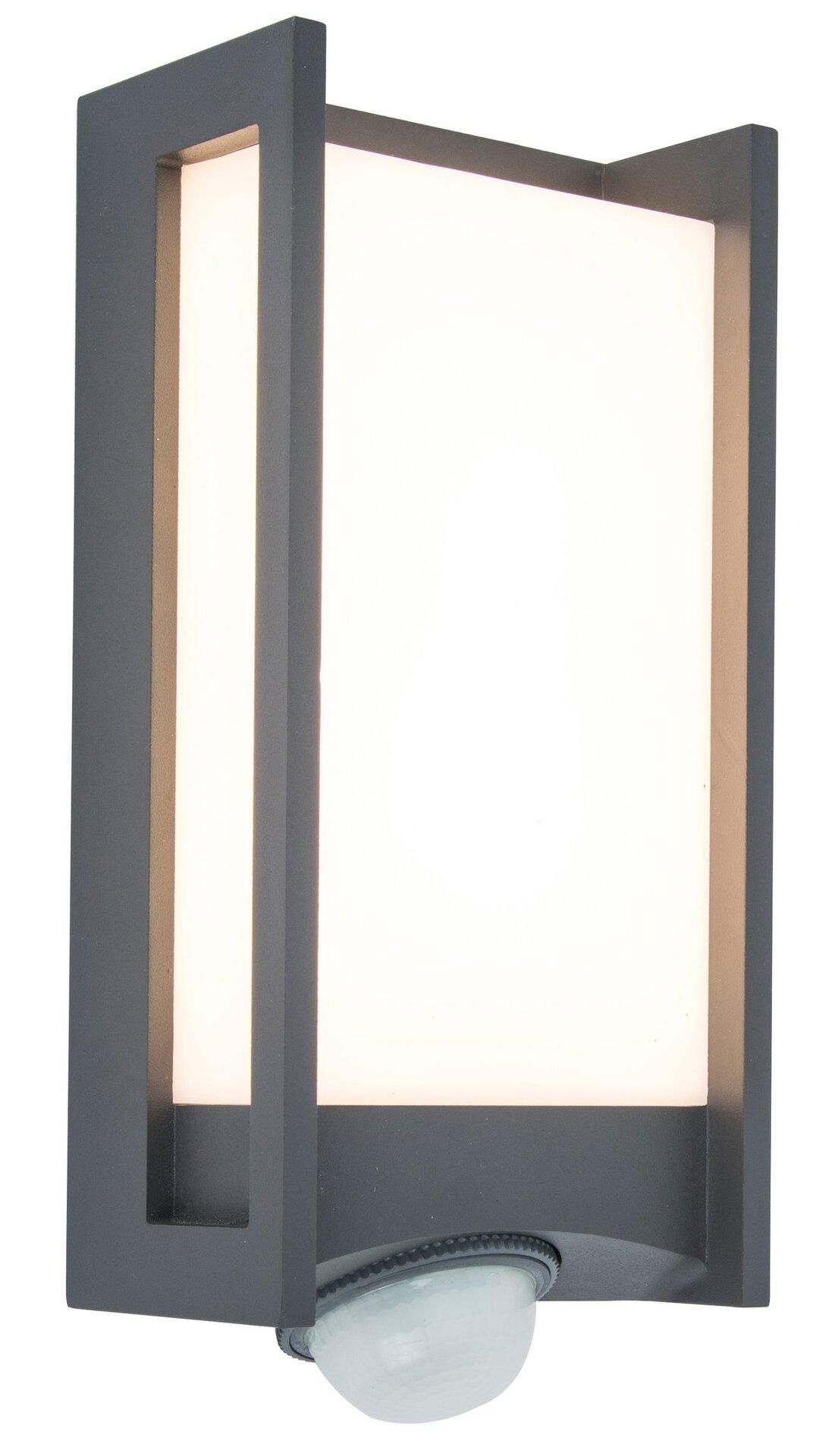 Wand-Aussenleuchte Qubo Eco-Light Metall grau 11 x 27 x 11 cm