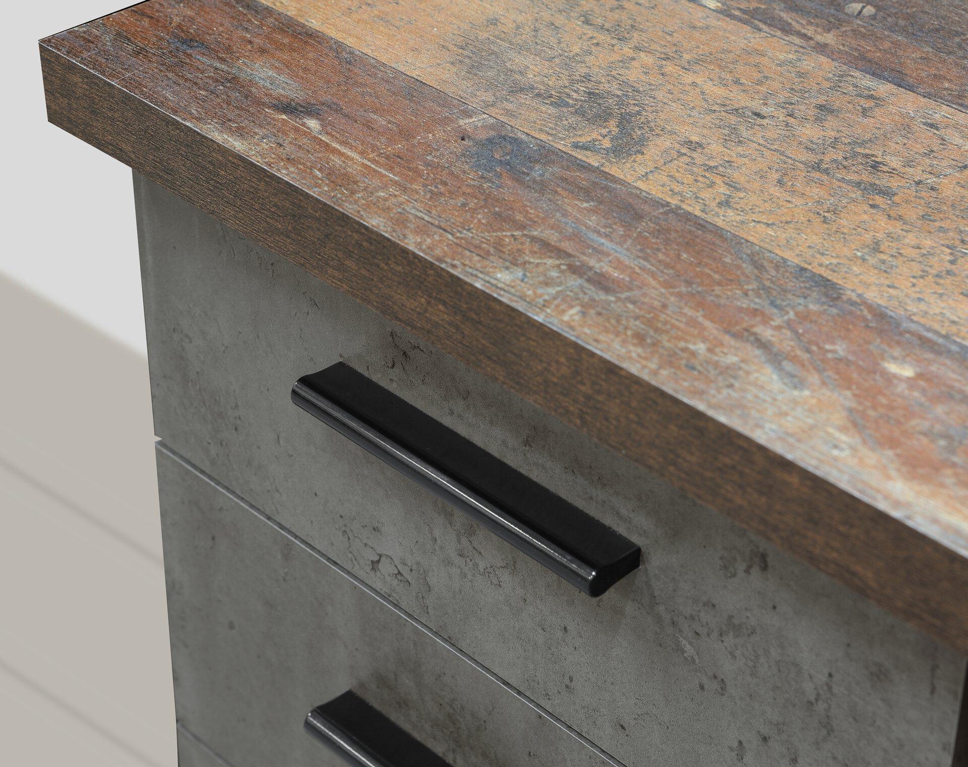 Schreibtisch NET106 Forte Holzwerkstoff 60 x 76 x 145 cm