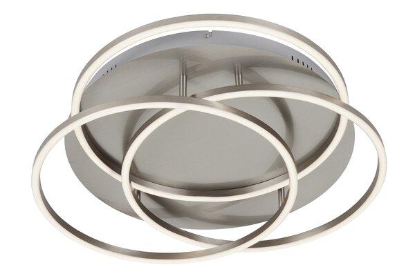 Deckenleuchte Briloner Metall chrom ca. 55 cm x 10 cm x 55 cm