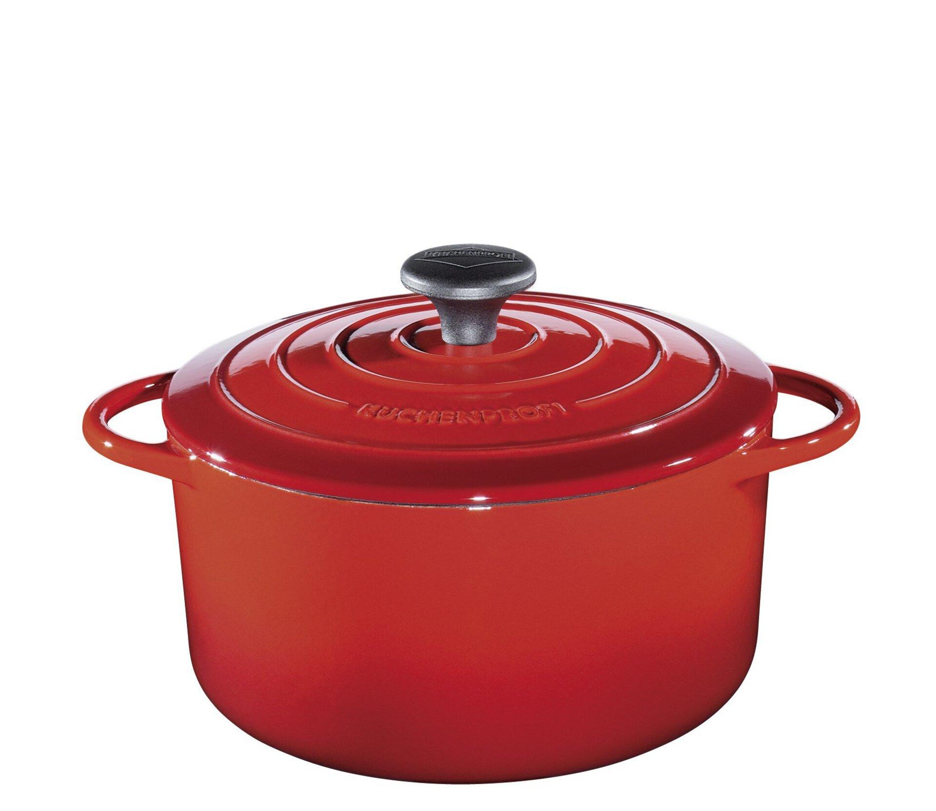 Topf PROVENCE Küchenprofi Metall rot 31 x 11 x