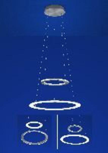 Hängeleuchte B-Leuchten Metall anthrazit ca. 50 cm x 130 cm x 50 cm