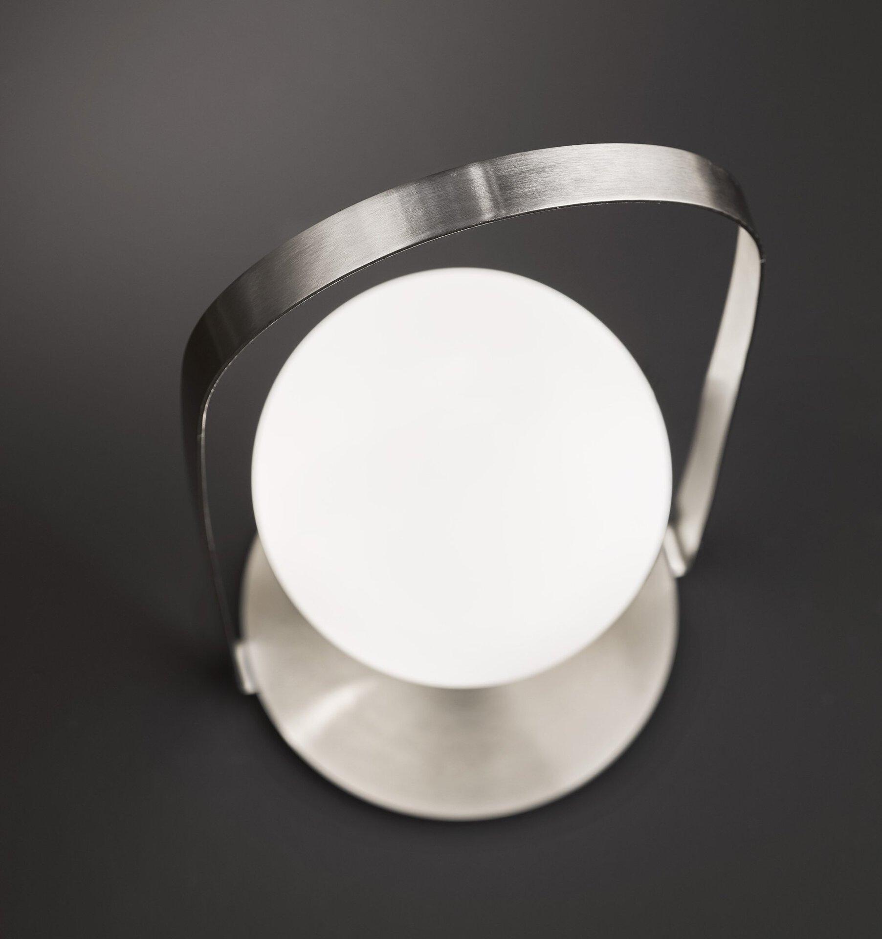 Tischleuchte Verre Wofi Leuchten Metall silber 20 x 40 x 20 cm